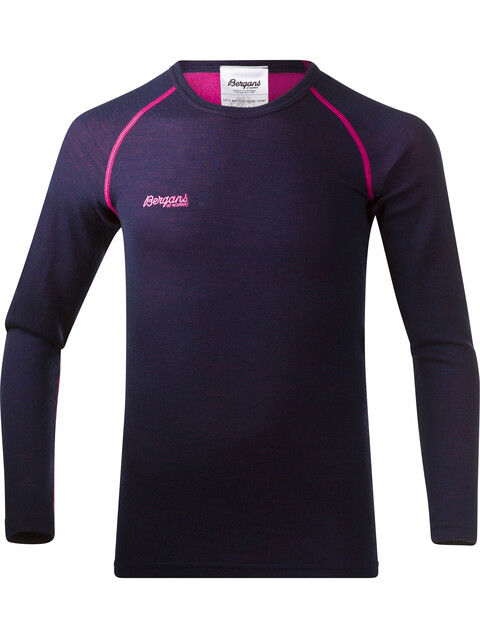 Bergans Akeleie Youth Shirt Navy/Hot Pink
